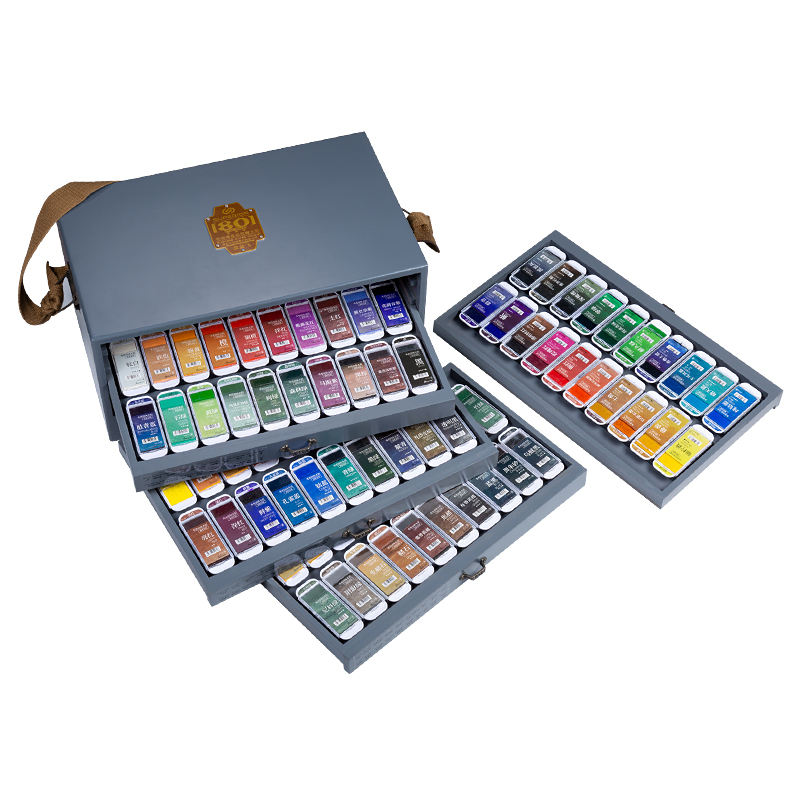 Superior 80 Colors Professional Watercolor Paint Set Super Large Color Pan