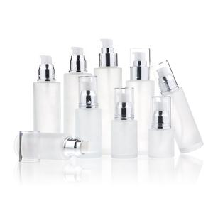 Luxus Phantasie Squeezable Pumpe 30ml 50ml 100ml 120ml Lotion Flasche Glas Matt Serum Flasche