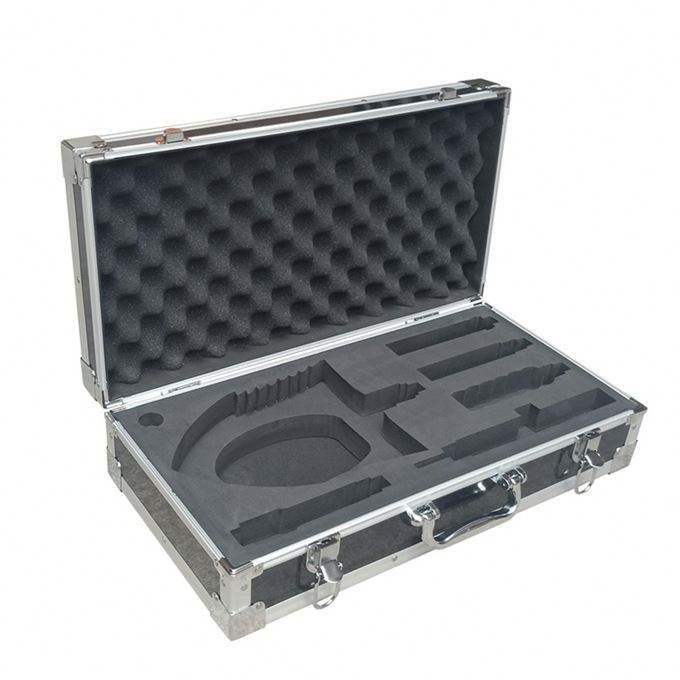 금속 코너 강화 알루미늄 도구 케이스 잘라 폼 삽입