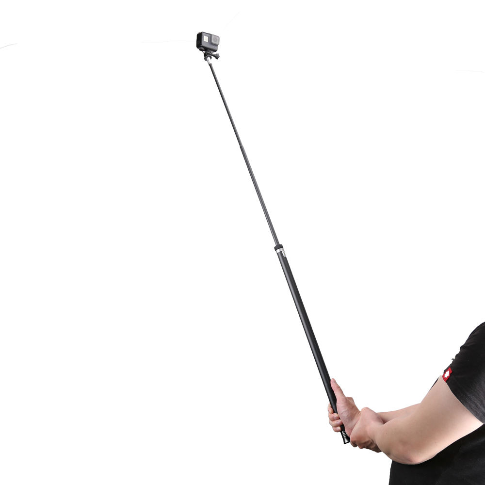 Hot selling GoPros Monopod 2.7M Long Selfie Stick Carbon Fiber Extendable Handheld Monopod Pole for GoPro cameras