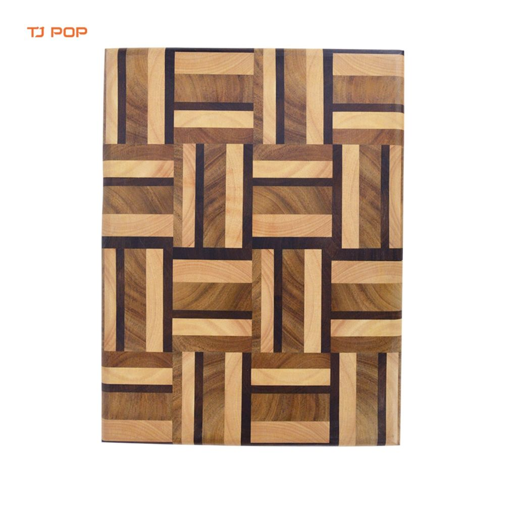 Wholesale/Custom Premium Acacia Wood&Rubberwood&Carbonizd Acacia Wooden Cutting Board Kitchen Large End Grain Chopping Block