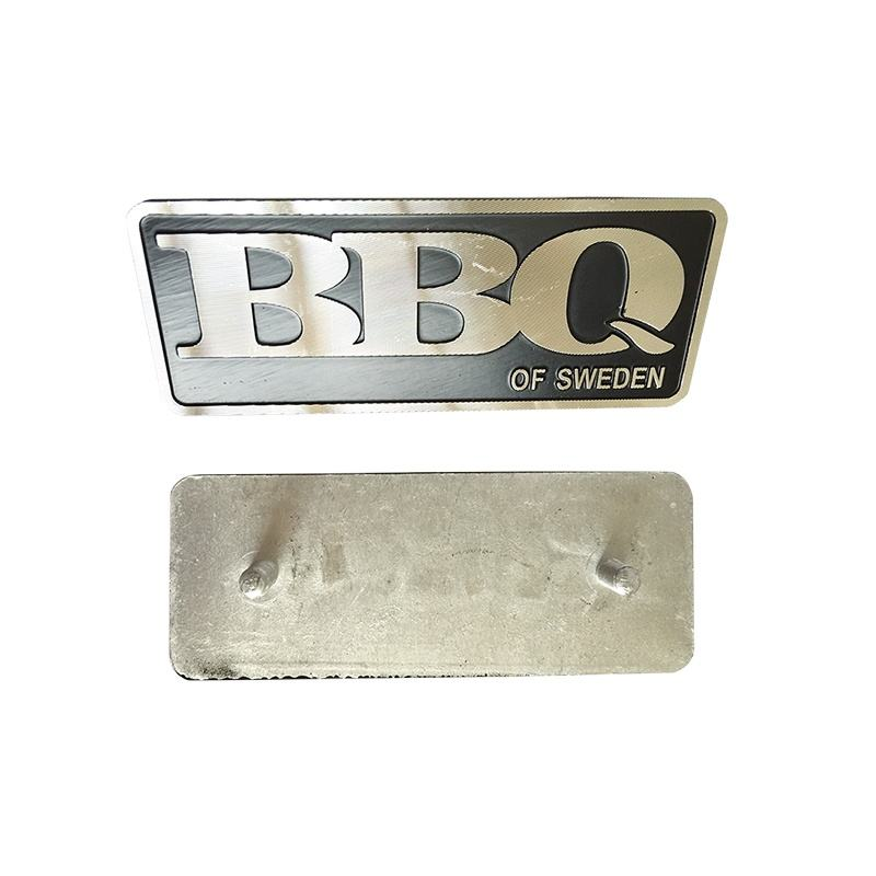36years factory custom metal car name plates with backs for handbags wallets