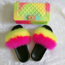 SHB301 Spring summer style colorful designer women slipper and bag set matching purses handbags with shoes