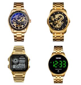 Skmei 1335 stainless steel reloj hombre men watch digital 5atm waterproof design wrist watches