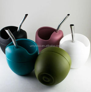 2020 HOT Mateo Tea Cup Silicone Yerba Mate Gourd Cup with Bombilla Drain Straw