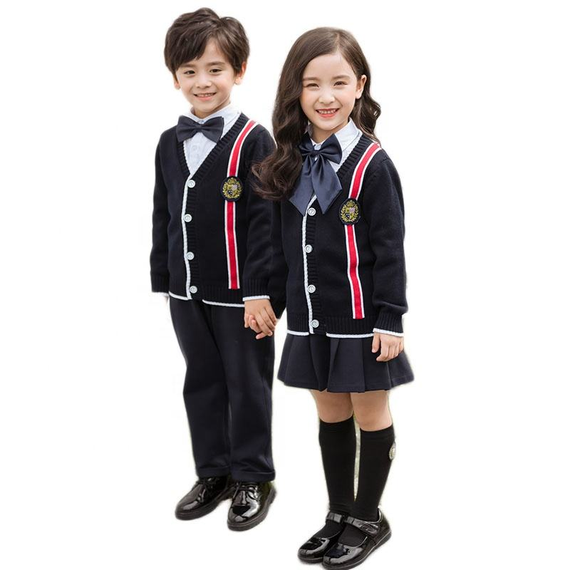 Latest design cheap school uniform sweater wear Kids kindergarten school uniforms