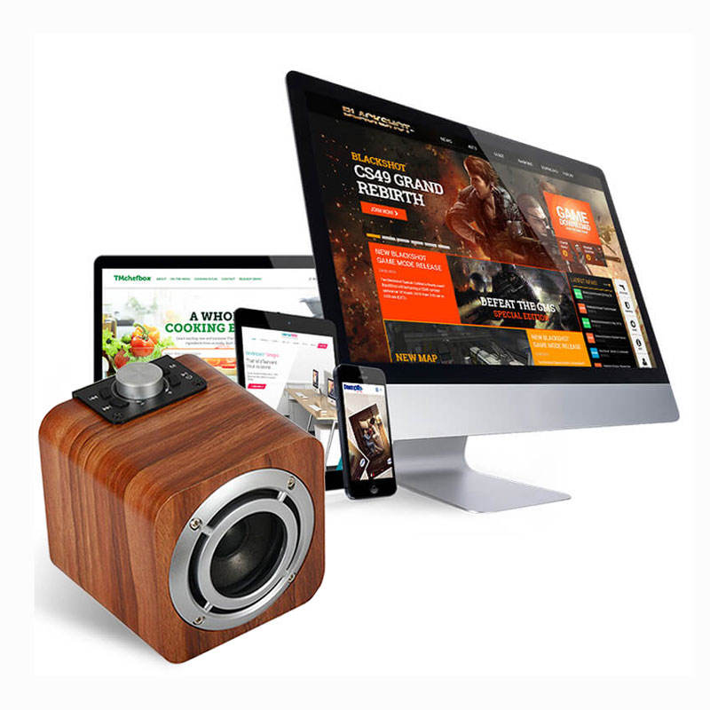 Speaker Bluetooth Suara Surround Kayu Retro, Sistem Teater Rumah Microlab