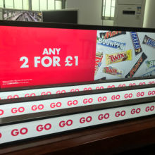 "Factory Professional  37"" strip screen stretched LCD bar screen advertising displayer for super market"