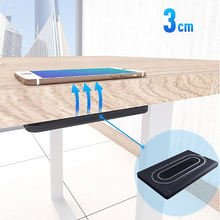 New technology long range 3cm hidden under desk wireless phone charger for hotel restaurant coffee shop