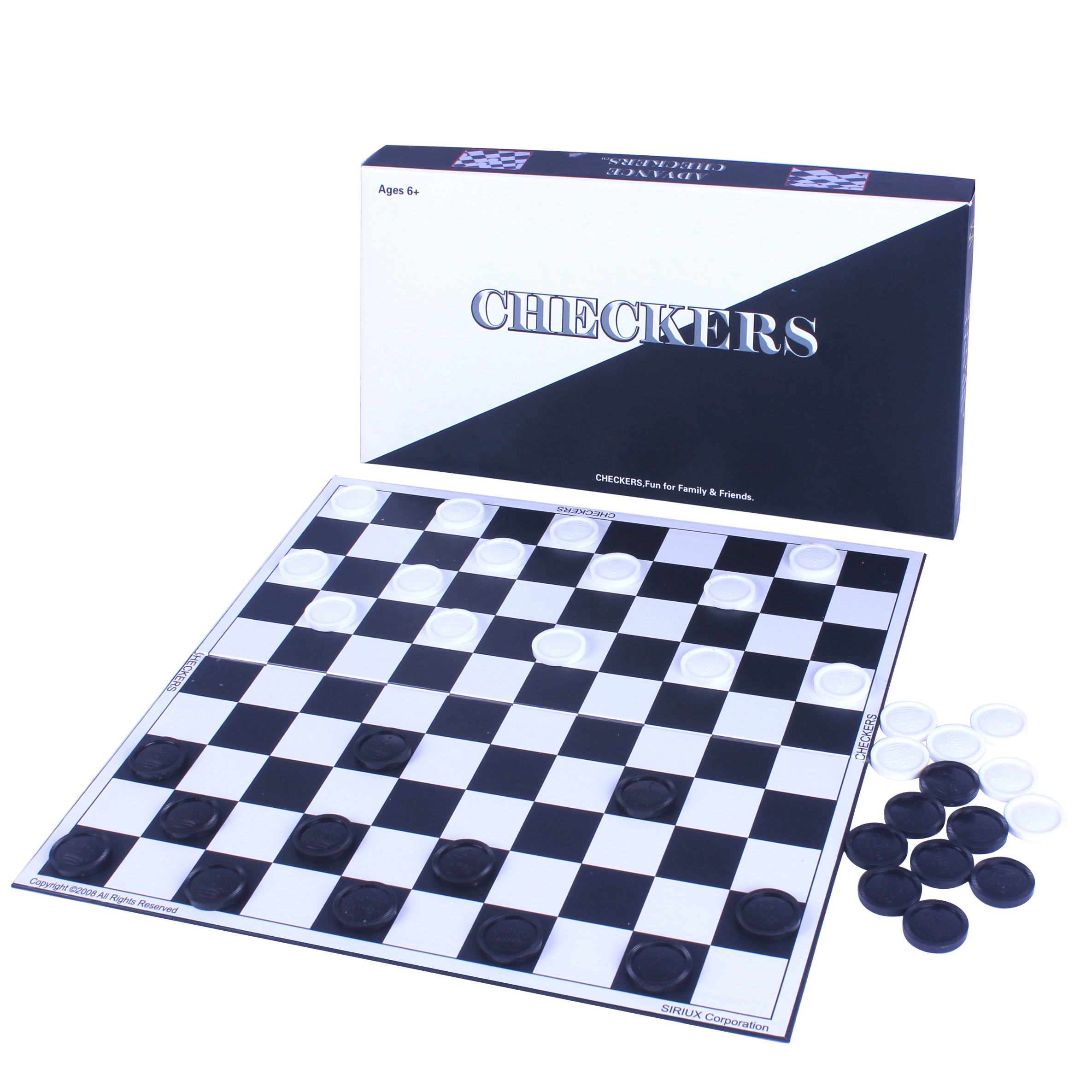 Custom Deluxe <span class=keywords><strong>Checkers</strong></span> Game Met Plastic Crown Zwart Wit <span class=keywords><strong>Checkers</strong></span> Stuk