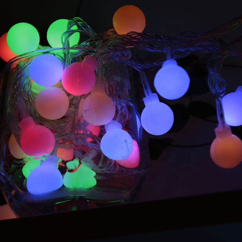 Hot sell Waterproof outdoor Battery powered multicolor small ball LED string light for wedding decoration led light ball