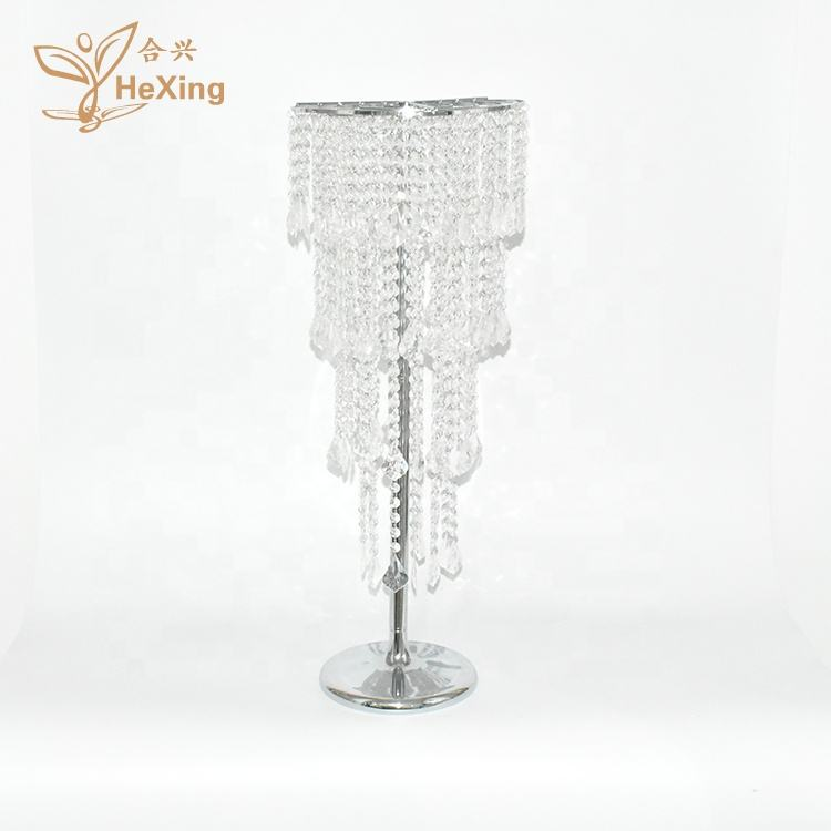 80cm tall modern style crystal chandelier wedding silver flower stand table centerpiece