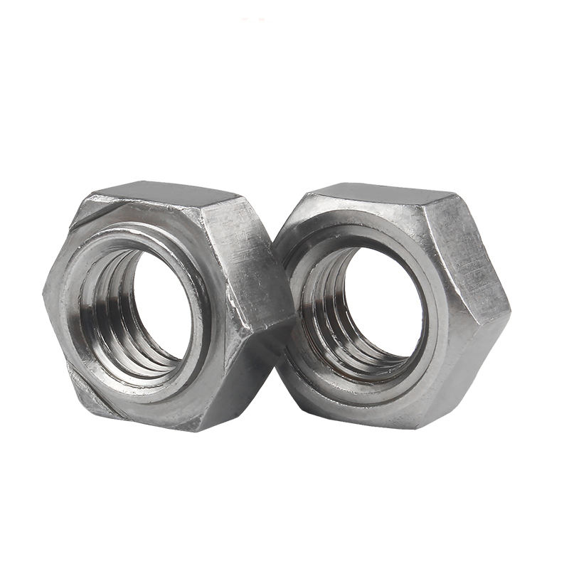 M10-1.5 Metric DIN 929 50 pcs A2 Stainless Steel Hex Weld Nuts