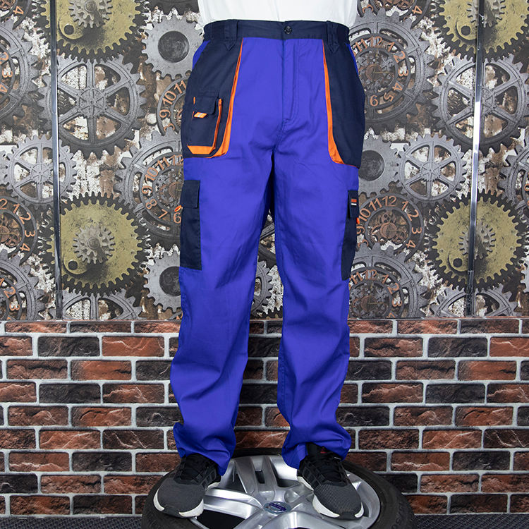 cheap many pockets cotton cargo pants worker blue wear construction reflective work trousers for men