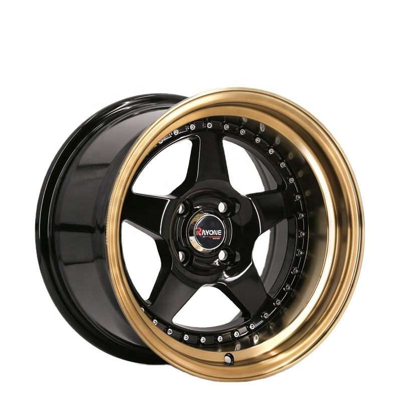 Fashion Golden Lip Rivets 4X100 15 Manufacturers Custom Alloy Wheel Rim