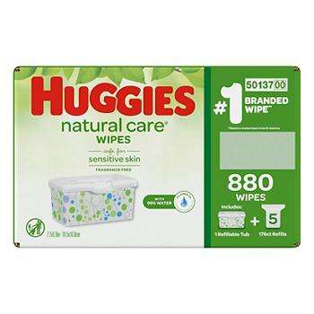 Natural Care Fragrance-Free Baby Wipes Bulk Case Pack 880 ct