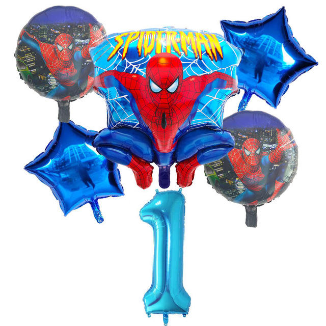 6 pcs/set Spiderman Foil Helium Balloon 30