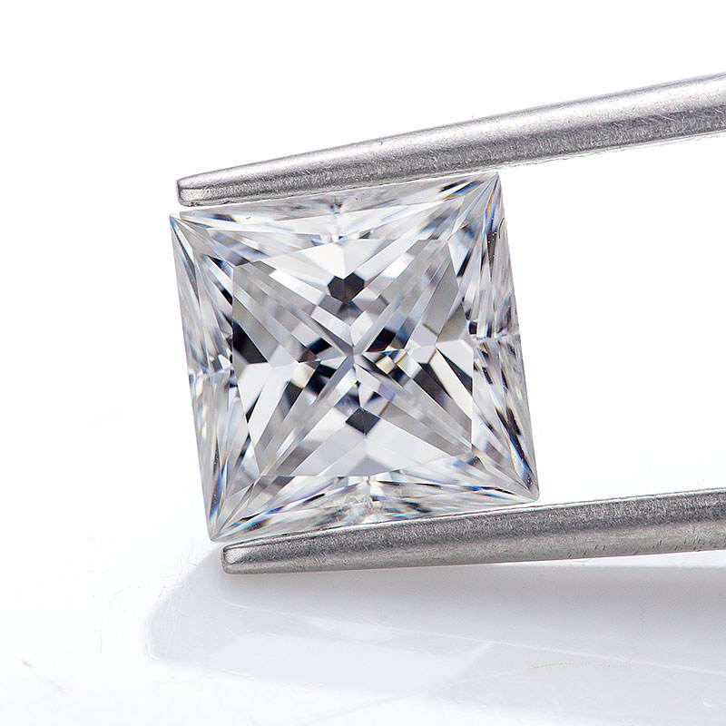 DEF 5.5ミリメートル1ct VVS Certified Princess Cut White Moissanite Lab Grown Moissanite Diamond