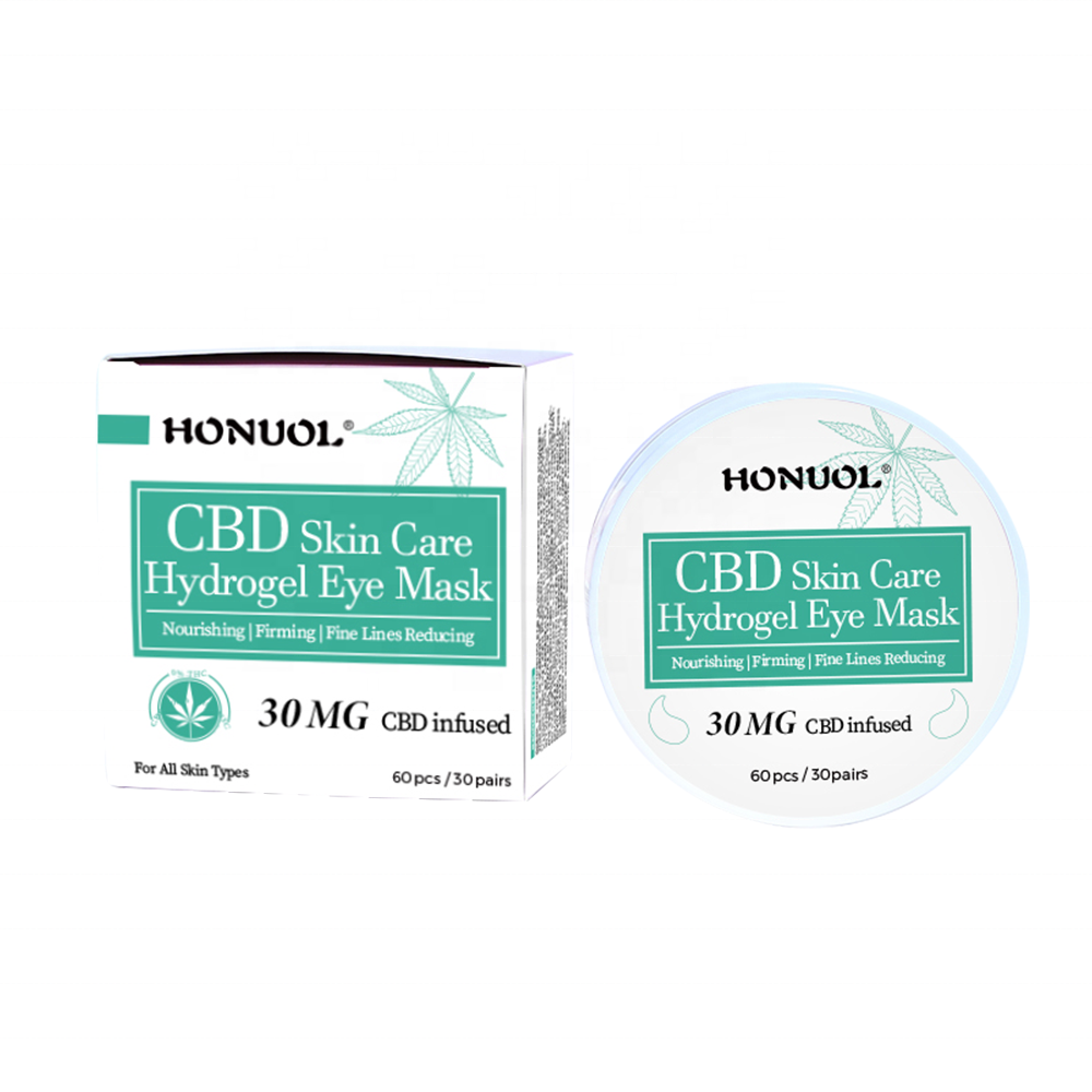 Private Label CBD Eye Mask Hydrating,Moisturizing,Nourishing, Firming, Fine lines Reducing 30MG CBD Hydrogel Eye Patch