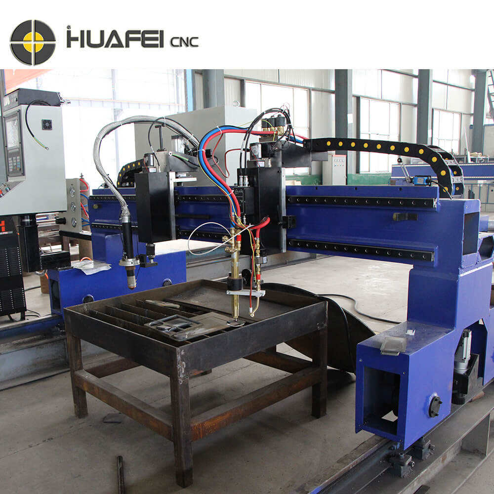 Efficiency HUAFEI CNC Best Oxy/Plasma Light Gantry CNC Flame Cutter Cutting Machine