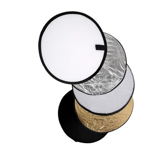 Professional photography 5 in 1 reflector discs 60cm 80cm Portable Collapsible Light Round Photography White black gold silver