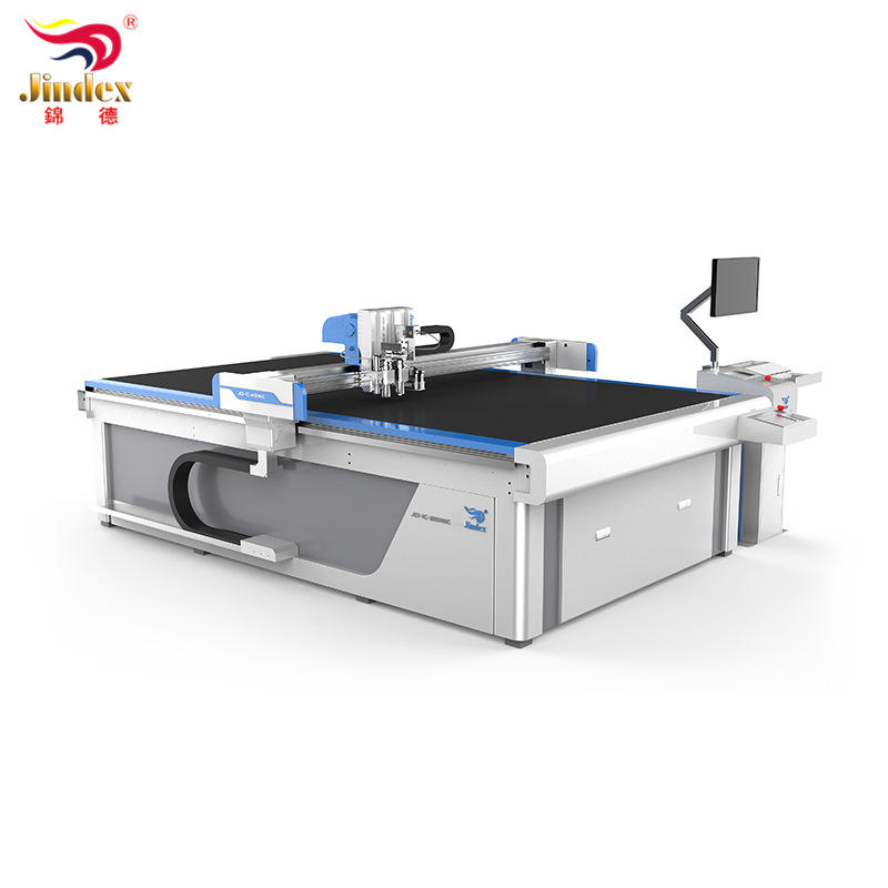 Jindex Glass Wool Automatic Cutting Machine Round Knife Cutter High Speed Paper Box Carpet Mat Fabric Cutter