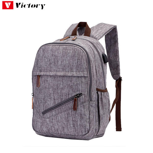 USB cable design school backpack laptop for teenagers