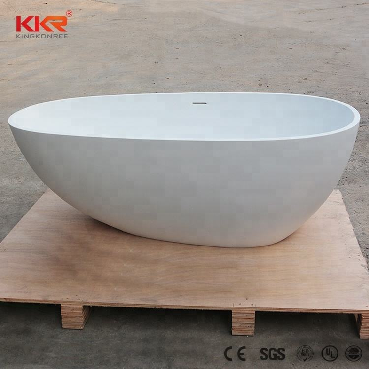 bathtub production by machines small freestanding resin bathtub