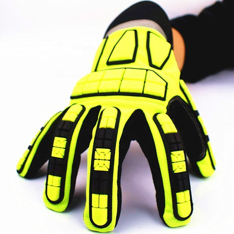 Hot Oil Anti Smashing Skid Wear Resistant Impact Drilling Marine Work TPR Gloves
