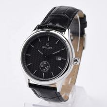 Quality automatic mechanical watch genuine leather watch for business man