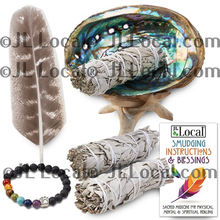 Abalone Shell - for Smudging Kit with White Sage & Smudges - USA Made