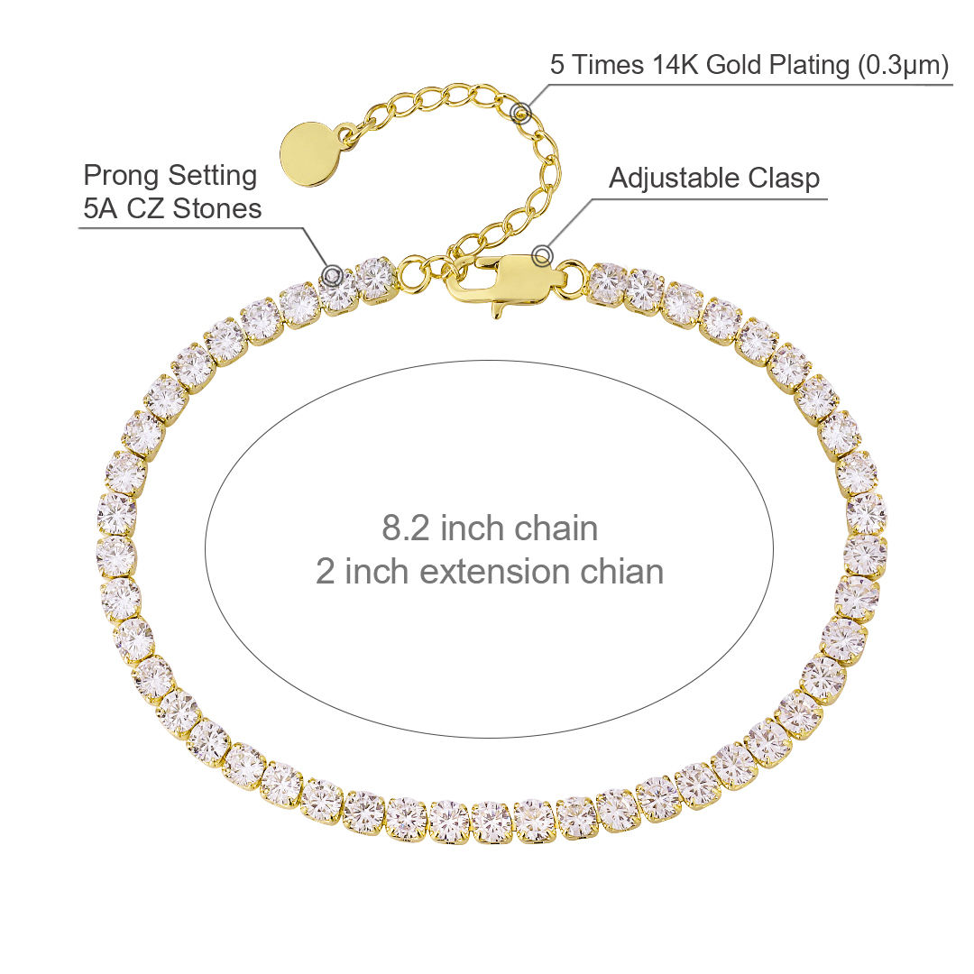 Logo Customization [ Foot ] Ankle Chain Bracelet KRKC Fashion Ladies Gold Diamond Stainless Steel Ankle Bracelet Anklet Vendor 18k Gold Plated Anklet Foot Chain Ankle Bracelet