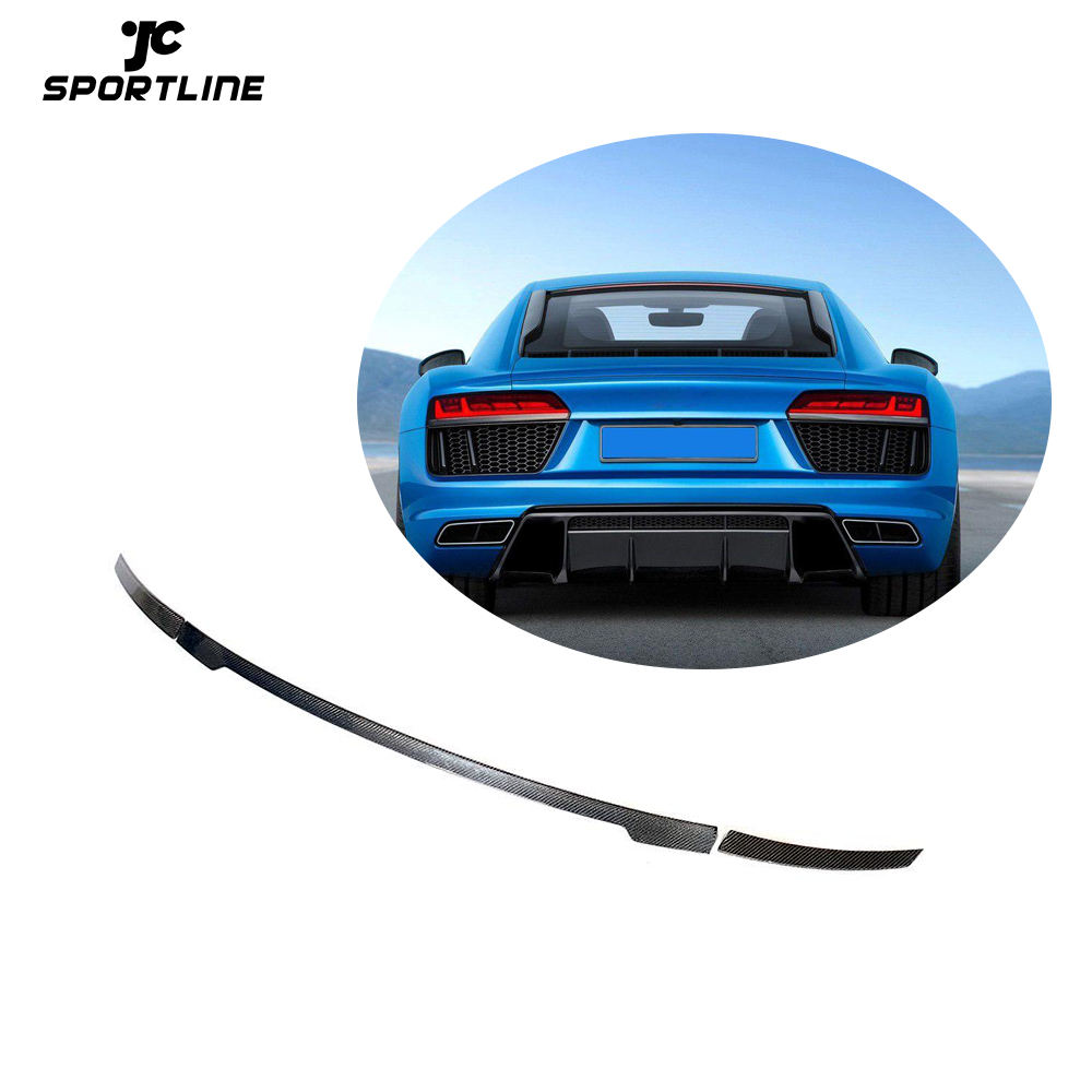 JCSPORTLINE Carbon Fiber R8 V10 Rear Wing Spoiler for Audi R8 V10 Coupe 16-18 Gen2