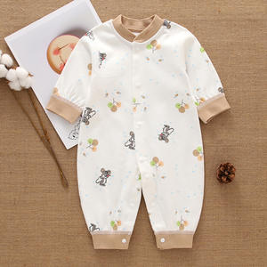 RTS High quality baby romper cotton linen newborn bay gift set baby cotton romper