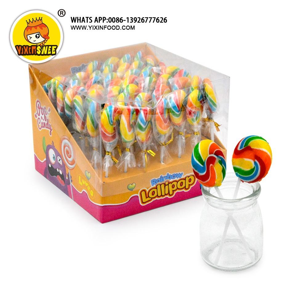 Hard colorful round lollipop for children