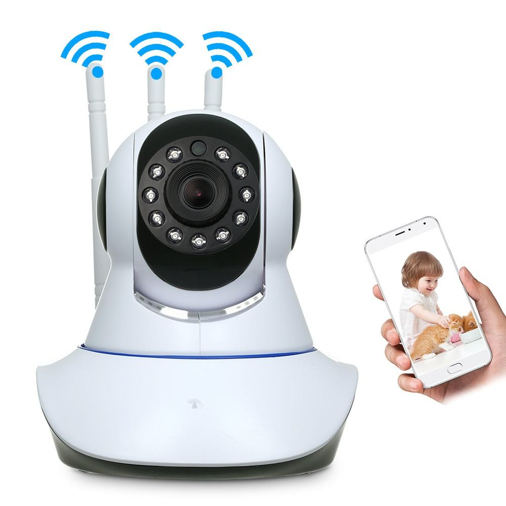 China Factory Wholesale Home Security HD WIFI 3MP PTZ Mini CCTV Cameras with APP Remote Monitoring