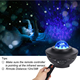 Rotate Crystal Glass Laser Projector For Christmas Holiday Party Starry Sky Projector Light Room Projector