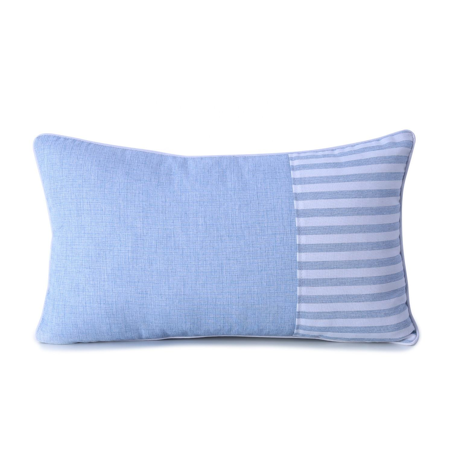 High quality home decorative splice striped indoor comfortable Rectangular sofa bed throw pillow cushion