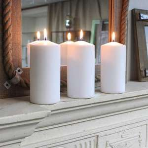 100% paraffin wax scented pillar candle