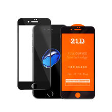 21D accessories mobile phone full cover tempered glass screen protector for iphone