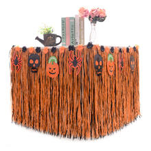 Wholesale High Quality Hot Sale Hawaiian Grass Table Skirt For Party Outdoor Picnic Dance Halloween Decorations Party Supplies