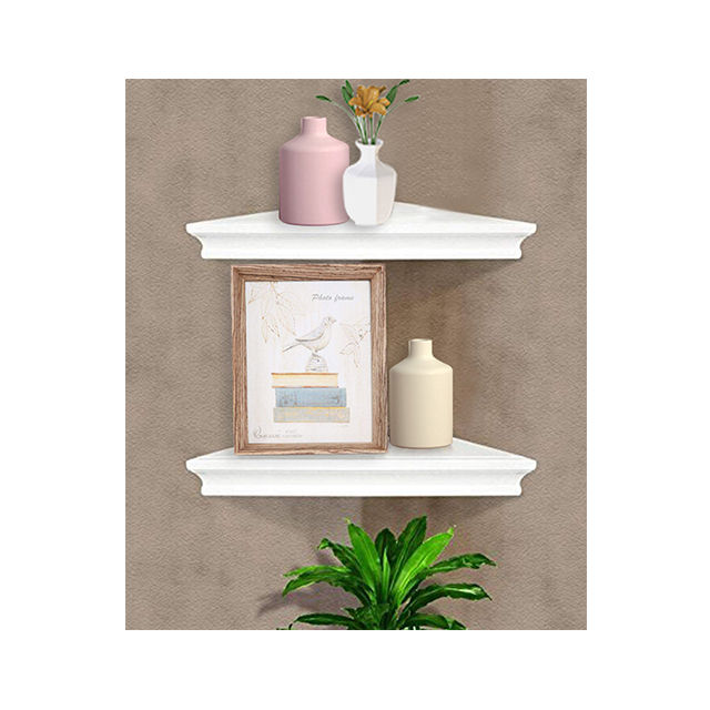 Corner Wall Shelf Set of 3 Solid Wood Floating Shelves Wall Mounted