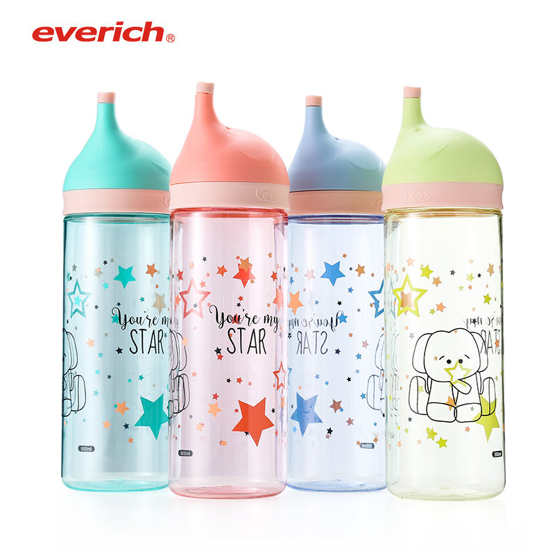Cute mineral pet drinking plastic 500 ml plastic manufacturer water bottle for kids