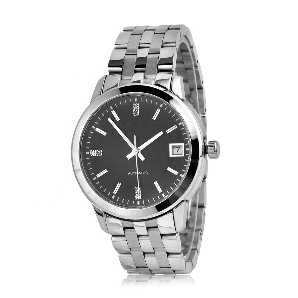 Custom LOGO 5ATM Mens Automatic Mechanical Stainless Steel Business Watches
