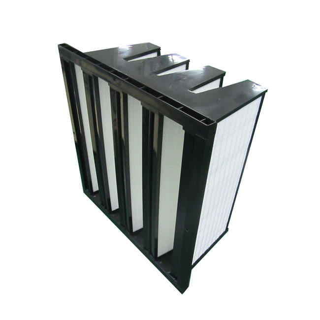 ABS Box V-Bank Type Combined Ventilation System Hepa Air Filter