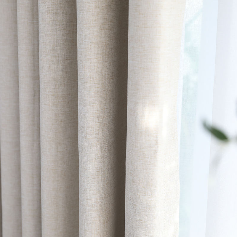 Innermor solid 100% blackout Curtain For Living room Home Decor thick Faux linen Curtains for Bedroom ready made custom made
