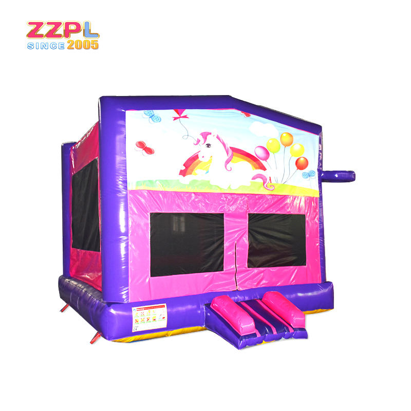 PVC tarpaulin Princess Kids Inflatable bouncy castle/ girls inflatable castle for sale