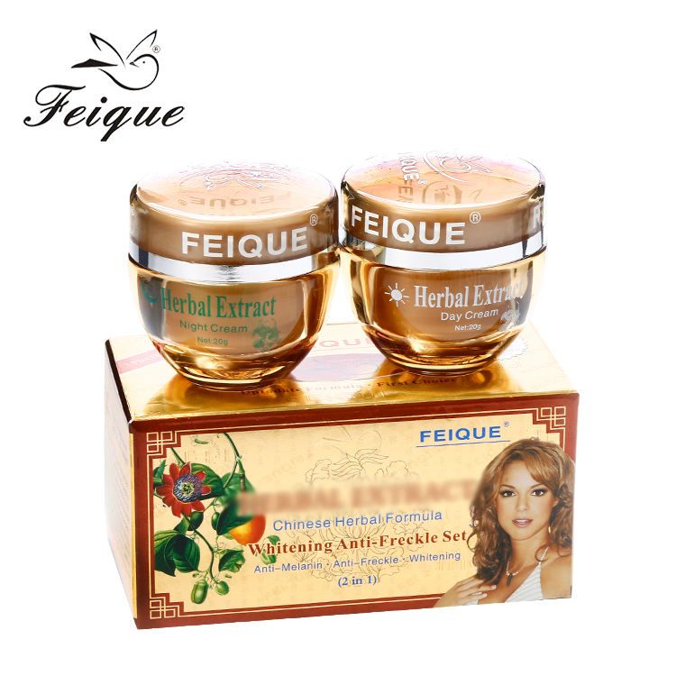 HOT!Feique Natural beauty 10 days whitening 2 in 1 day and night cream herbal extract cream