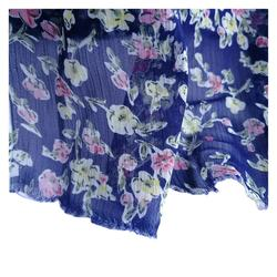100% polyester crepe chiffon print fabric high twist silk print fabric women flower print dress fabric