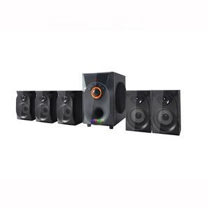 5.25 polegadas woofer Hifi subwoofer 5.1ch home theater sistema de colunas USB/SD/FM speaker super bass home theater sistema de colunas